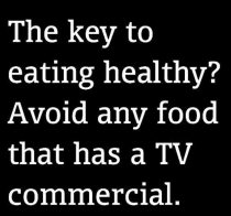 I can't remember seeing a commercial for broccoli or spinach...